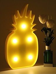 cheap -3D LED Night Light Pineapple Night Lamp Romantic Table Lamp Marquee Home Christmas Decor Battery LED Nightlight