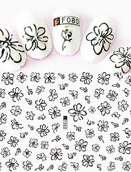 cheap -1pcs 3D Nail Stickers Nail Stamping Template Daily Fashion High Quality