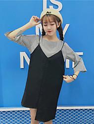 Women's Going out Sexy Summer Shirt Dress Suits,Solid Shirt Collar Long Sleeve