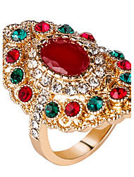 cheap -Women's Statement Ring / Ring - Resin, Alloy Personalized, Luxury, Unique Design 7 / 8 / 9 Red / Green For Party / Anniversary / Birthday