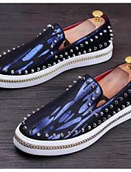 Herren Schuhe Leder Frühling Loafers & Slip-Ons Für Silber Rot Blau