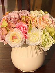 baratos -Flores artificiais 1 Ramo buquês de Noiva Plantas Flor de Mesa