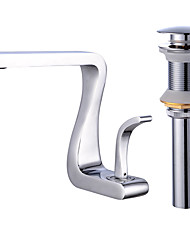 cheap -Single Handle Lavatory Waterfall Bathroom Sink Faucet,Solid Brass Basin Mixer Tap