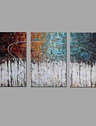 cheap -Oil Painting Hand Painted - Landscape Classic / Modern Canvas / Three Panels