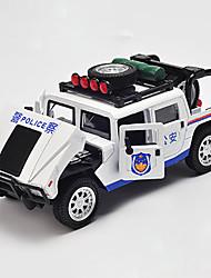Legetøjsbiler Legetøj Modelbil Politibil Legetøj Metallegering Chrome Stk. Børne Gave