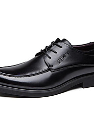 cheap -Men's Shoes Leather Fall Winter Oxfords For Black Light Brown