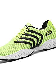 Men's Athletic Shoes Casual Fashion PU Tulle All Seasons Daily Sports Outdoor clothing Casual Fashion Lace-up Flat Heel Green Gray Black