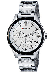 cheap -Men's Quartz Wrist Watch Smartwatch Sport Watch Chinese Calendar / date / day Water Resistant / Water Proof Large Dial Metal Band Charm