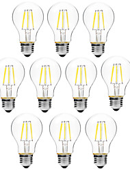 cheap -BRELONG® 10pcs 6W 450 lm E27 LED Filament Bulbs A60(A19) 6 leds COB Dimmable Warm White White AC 200-240V