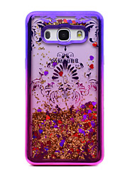 cheap -For Samsung Galaxy J5 (2016) J3 (2016) Case Cover Flowing Liquid Pattern Back Cover Case Glitter Shine Flower Soft TPU for J3