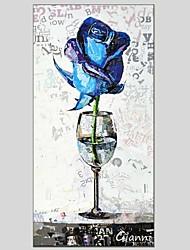 Peint à la main A fleurs/Botanique Un Panneau Toile Peinture à l'huile Hang-peint For Décoration d'intérieur