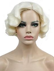 Donna Parrucche sintetiche Senza tappo Pantaloncini Ondulati Biondo Parrucca naturale Parrucca di celebrità costumi parrucche