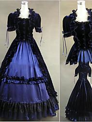 abordables -Vintage Medieval Victoriano Gótico Disfraz Mujer Vestidos Baile de Máscaras Ropa de Fiesta Cosecha Cosplay Other Satín Manga Corta