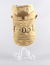 abordables -Perro Abrigos Ropa para Perro Británico Verde Cazador Caqui Algodón Disfraz Para mascotas Hombre Mujer Casual/Diario Mantiene abrigado