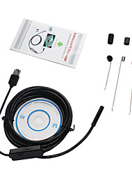 2in1 Android&PC 2.0 Mega Pixels 8.0mm Lens HD Endoscope 6 LED IP67 Waterproof Inspection Borescope 5m Hard Line Snake