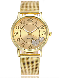 cheap -Women's Wrist Watch Japanese Casual Watch Alloy Band Charm / Casual / Fashion Silver / Gold / One Year / SSUO LR626
