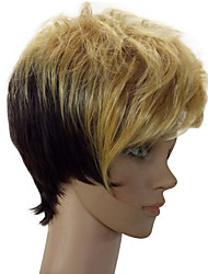 cheap -top quality fashion colorful wig short straight synthetic hair wigs for daily life party wig