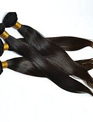 4Pcs/Lot 200g 8-28 Brzilian Virgin Straight Hair Natural Black Human Hair Weave Hair Bundles