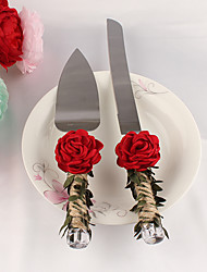 cheap -The New Rose Flower Cake Servers Set