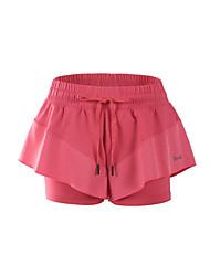 Damen Laufschuhe Shorts/Laufshorts Unten für Übung & Fitness Laufen Terylen Lose Schwarz Rosa Violett XS S M L XL