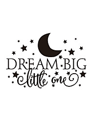 cheap -Wall Stickers Wall Decas Style Dream English Words & Quotes PVC Wall Stickers
