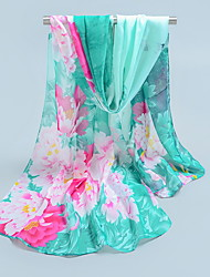 Chiffon Scarves Korea Scarf Shawl Thin Long Rectangle Women's Beach UV Sunscreen Bohemia Retro Print Chrismas Gift