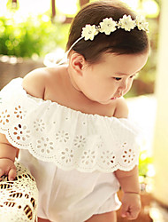 Baby Infants And Young Children Cotton Fashion Broken Beautiful Ruffled Cuff Conjoined Triangle Climbing Package Fart Crawling With Short Sleeves