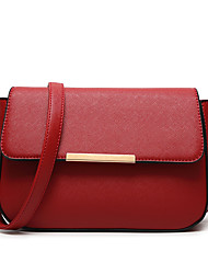 cheap -Women's Bags PU Crossbody Bag for Business Casual Formal Office & Career Work Date School All Seasons Blue Black Red Blushing Pink Sky