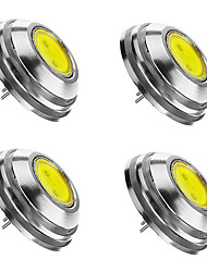 cheap -SENCART 4pcs 2W 3000/6000/6500 lm G4 LED Spotlight 1 leds COB Dimmable Warm White Cold White Natural White DC 12V