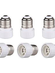 cheap -6 Pcs of E26 E27 Edison Screw to GU10 Bayonet Base Adapter Lamp Socket