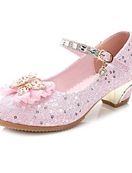 cheap -Girls' Wedding Shoes Comfort Novelty Flower Girl Shoes Glitter Summer Fall Party & Evening Dress Walking Comfort Novelty Flower Girl Shoes