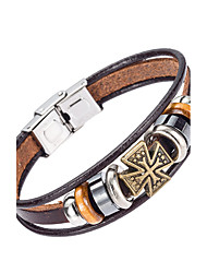 cheap -Men's Leather Bracelet Jewelry Natural Fashion Costume Jewelry Leather Alloy Irregular Jewelry For Special Occasion Gift Sports