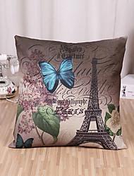 cheap -1 pcs Cotton/Linen Pillow Case Pillow Cover, Pattern Traditional/Classic