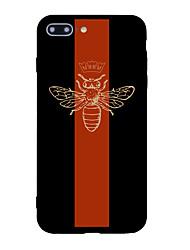 Pour iphone 7 plus 7 étui en carton couverture arrière carrure animale tpon doux pour iphone 6s plus 6 plus 6s 6 5s 5 se