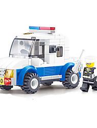 abordables -JIE STAR Robot Blocs de Construction Transformable Voiture de Police Carré Machine Robot Garçon Unisexe Cadeau