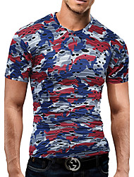 economico -T-shirt Da uomo Compleanno Da sera Serata/evento Casual Rimpatriata di classe Strada Athleisure Semplice Moda città AttivoPrimavera
