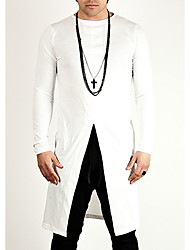 cheap -Men's Cotton T-shirt - Solid Colored Round Neck