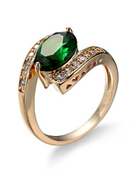 cheap -Women's Synthetic Emerald Ring - Zircon, Emerald, Alloy Unique Design, Fashion, Euramerican 6 / 7 / 8 Green For Wedding / Special Occasion / Anniversary