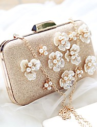 Women Bags All Seasons PU Evening Bag Flower for Event/Party Date Party & Evening Champagne