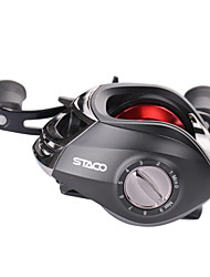 HiUmi 13 Ball Bearings Baitcasting Reel Fishing Fly High Speed Fishing Reel with Magnetic Brake System
