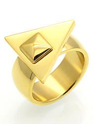 Homens Mulheres Anéis Grossos Maxi anel Anel Zircônia cúbica Circular Original Geométrico Circulo Dupla camada Moda Vintage Estilo Punk