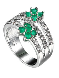 cheap -Women's Ring Synthetic Emerald Green Zircon Emerald Alloy Others Unique Design Euramerican Fashion Wedding Special Occasion Anniversary