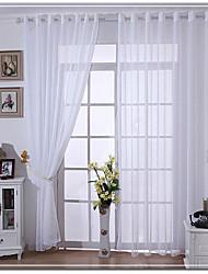 Un pannello tende di tulle di lino 150 * 250cm per la casa bianca tende bianche / voile colore solido