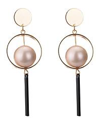 Drop Earrings Women's Girls' Euramerican Personalized Alloy Circle  Pearl Earrings Party Dailywear Movie Gift Jewelry