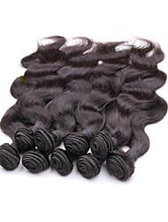 Недорогие -Натуральные волосы Пряди натуральных волос Реми Естественные кудри Бразильские волосы 1000 g Более года
