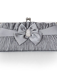 cheap -Women Bags Silk Mobile Phone Bag Bowknot Crystal/ Rhinestone for Wedding Event/Party Casual Formal Outdoor Office & Career Professioanl