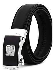 cheap -Men's Leather Alloy Waist Belt,Blue Black Work Casual/Daily Wedding Belts Solid Fashion