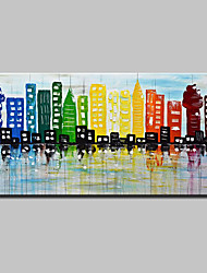 Hand-Painted Knife City Oil Painting On Canvas Modern Abstract Wall Art Pictures For Home Decoration Ready To Hang