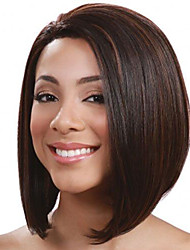 cheap -Synthetic Wig Straight Bob Haircut Synthetic Hair Middle Part Bob / Ombre Hair Black Wig Women's Short Capless
