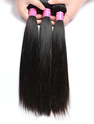 cheap -3 bundles Brazilian Virgin Remy Hair Straight Human Hair Weave Extensions 300g